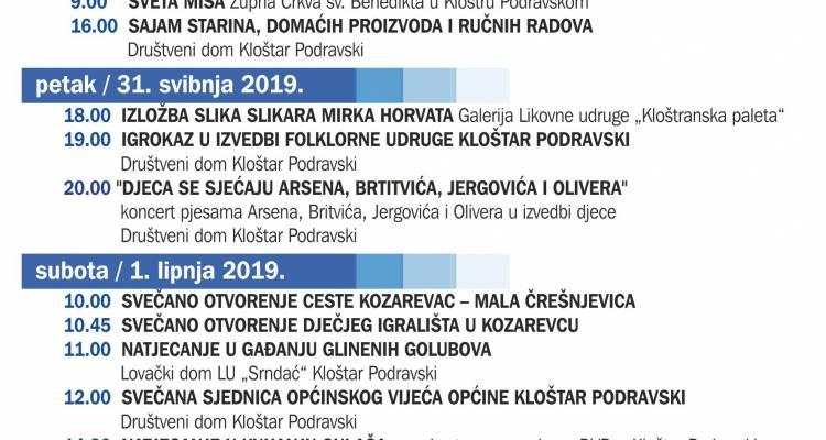 Pogledajte bogati program proslave Dana Općine Kloštar Podravski